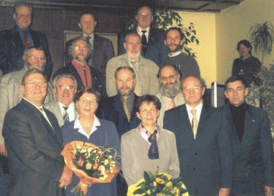 vlnr 1.Reih: A.Kayser, Th.Leyers, M.Kayser, L.Schmitz, LtCol F.Guth (EMA) 2.Reih: N.Berchem, R.Federspiel, J.Birong 3.Reih: S.Müller, J.Possing, P.Bintner, P.Faber, 4.Reih: J.Hoffmann, R.Mamer (UGDA), J.Leyers