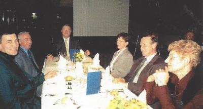 um Éirendësch vlnr: LtCol Fernand Guth, Claude Krumlovsky, Alfred Kayser, Maria Kayser, Robert Mamer, Mme Mamer