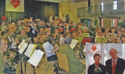 D´Lëtzebuerger Militärmusik huet mat 25 jonken Talenter äus dem Conservatoire du Nord viru voll besaatem Sall musizéiert. D´Sekretärin an de Präsident vun der Garnisounsmusek konnten duerno dem Télévie e Scheck iwerreechen.