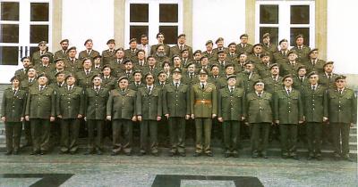 D´Amicale Garnisounsmusek an hirer beier Uniform op Nationalfeierdag 1996