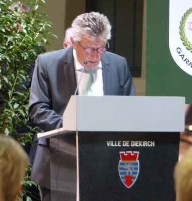 Nico Castermans, Präsident vun der Garnisounsmusek . . . . . . (photo vum Chr. Parmentier)