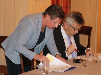 Liliane Theisen, secrétaire et Nico Castermans, président