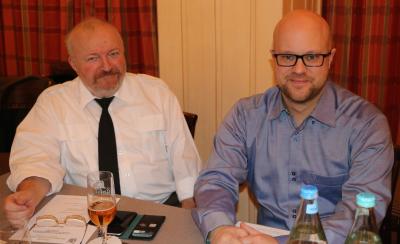 Gast Goerend avec Chris Schleck, chef d´orchestre