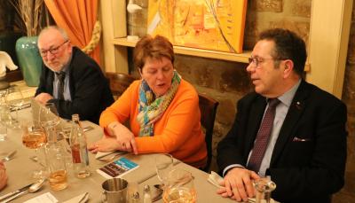 Jos Neuser, président de l´Harmonie du Rollingergrund avec Madame et Romain Henrion, représentant de l´UGDA