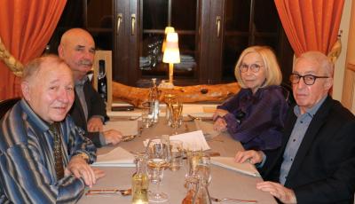 Pierre Langehegermann et Pitt Nussbaum avec Claude Krumlovsky et Mme